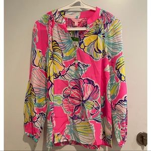 Lilly Pulitzer Elsa Silk Top New With Tags